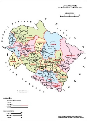 Uttarakhand Tahsil Map Uttarakhand District Map Census 2011 vListin