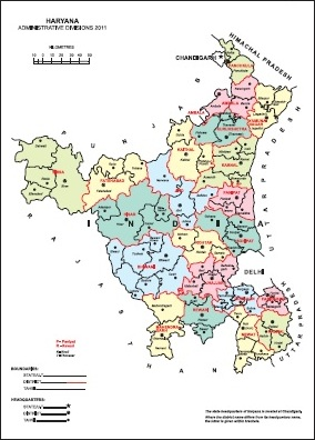 Haryana Tahsil Map Haryana District Map Census 2011 vListin