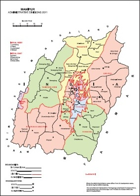 Administrative Map of Manipur