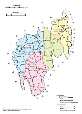 Administrative Map of Tripura