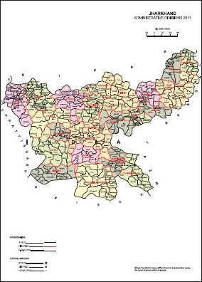 Jharkhand CDBlock Map Jharkhand District Map Census 2011 vListin