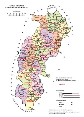 Chhattisgarh Tahsil Map Chhattisgarh District Map Census 2011
