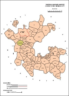 Administrative Map of Dadra & Nagar Haveli