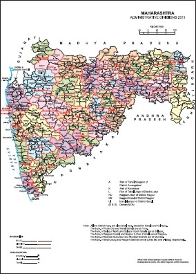 Maharashtra Tahsil Map Maharashtra District Map Census 2011 vListin