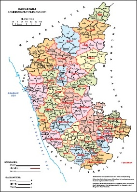 Administrative Map of Karnataka