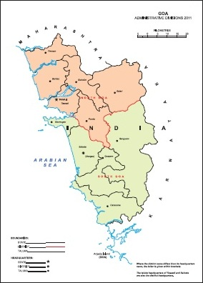 Administrative Map of Goa